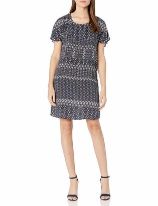 Velvet by Graham & Spencer Women's Corsica Print V-Back Dress
