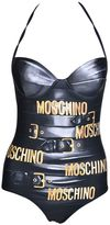Moschino Brand Print Swimsuit
