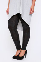 Yours Clothing Black Animal Print Full Length Leggings