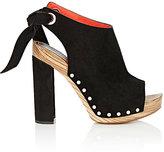 Proenza Schouler Women's Tie-Back Clog Sandals-BLACK