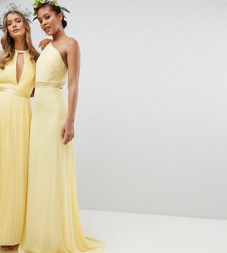 TFNC Tall Tall Embellished Maxi Bridesmaid Dress-Yellow