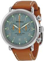 Shinola Men's The Runwell 41mm Leather Band Steel Case Quartz Watch S0100097