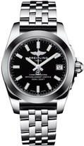 Breitling Galactic 36 SleekT ladies' black dial stainless steel bracelet watch
