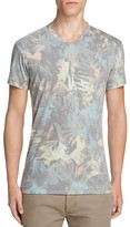 Sol Angeles Camo Floral V-Neck Tee