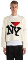 Raf Simons New York Oversized Wool Knit Sweater
