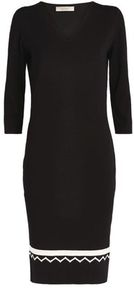 D-Exterior D.Exterior Knit Contrast-Trim Dress