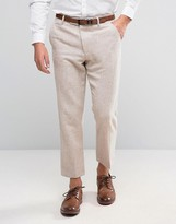 Asos Slim Cropped Pants In Tweed