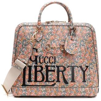 Gucci Horsebit 1955 Liberty London Floral Print Small Duffle Bag