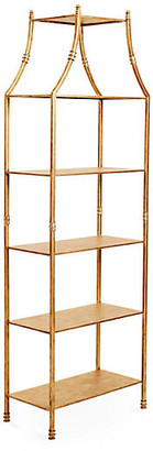 One Kings Lane Silas Etagere - Antiqued Gold
