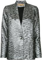 Maison Olga - metallic blazer - women - Cotton/Polyester/Viscose/Metallized Polyester - 0