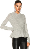 Veronica Beard Raleigh Peplum Sweater in Gray.