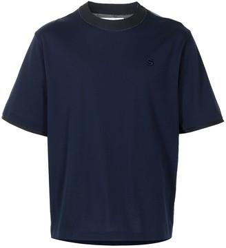 Sacai embroidered-logo T-shirt