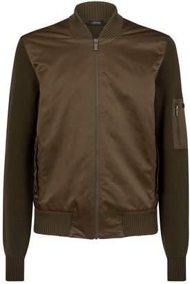 Ermenegildo Zegna Hybrid Knit Bomber Jacket