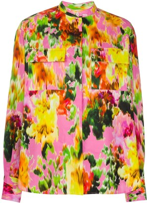 MSGM Floral-Print Cotton Shirt