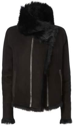 Yves Salomon Reversible Shearling Moto Jacket