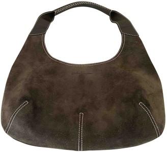 Salvatore Ferragamo Khaki Suede Handbags