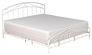 Hillsdale Jolie Arched Scroll Metal Bed, King