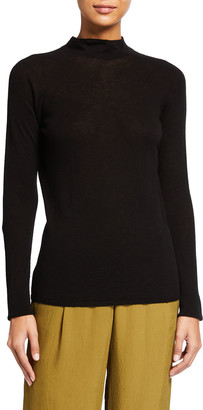Vince Seamless Funnel-Neck Pullover