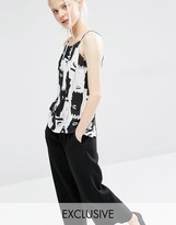 Monki Exclusive Printed Cami