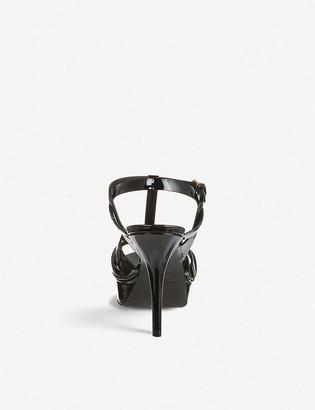 Saint Laurent Tribute 75 patent-leather heeled sandals