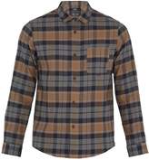 A.P.C. Milan checked cotton and linen-blend overshirt
