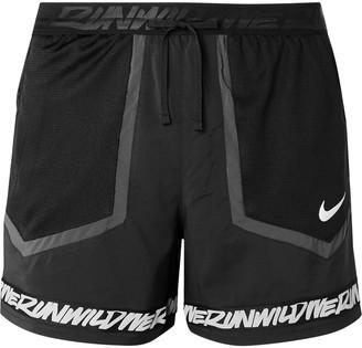 Nike Running - Flex Stride Wild Run Printed Mesh-Panelled Shell Running Shorts - Men - Black