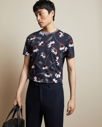 Ted Baker Floral Print Cotton T-shirt