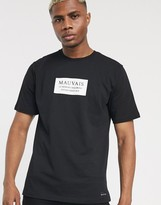 Mauvais t-shirt with box logo in black