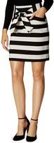 Karen Millen Tie Waist Stripe Mini Skirt