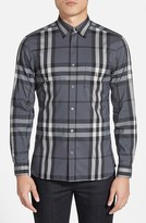 Burberry Men's 'Nelson' Trim Fit Check Sport Shirt
