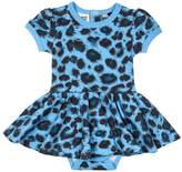 Rock Your Baby Blue Leopard Dress