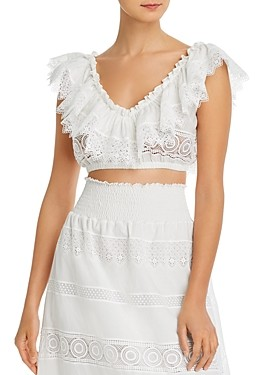 Waimari Fiammetta Lace Crop Top