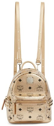 MCM + Mini Studded Stark Backpack