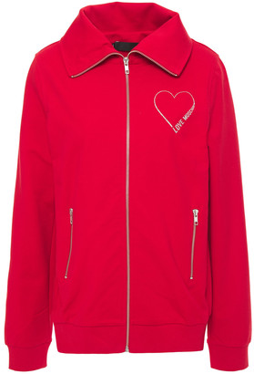 Love Moschino Printed French Cotton-blend Terry Jacket