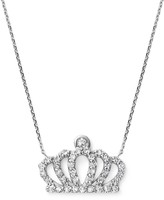 KC Designs Diamond Crown Pendant Necklace in 14K White Gold, .20 ct. t.w.