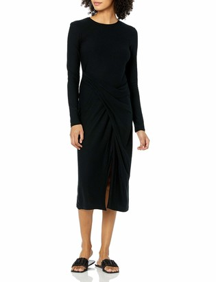 Vince Women's Long Sleeve Draped Dress