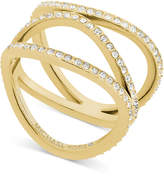 Michael Kors Cubic Zirconia Wavy Layers Ring