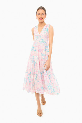 Warm Peach Floral Colony Dress