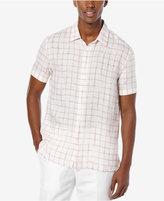 Perry Ellis Men's Windowpane-Print Short-Sleeve Shirt