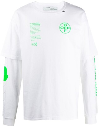 Off-White Arch Shapes double sleeve T-shirt