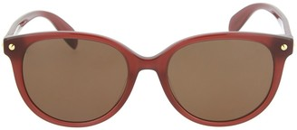 Alexander McQueen Core 56mm Rounded Cat Eye Sunglasses
