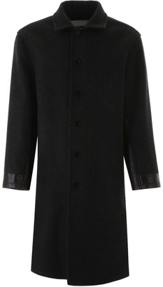 Jil Sander Coat With Leather Inserts