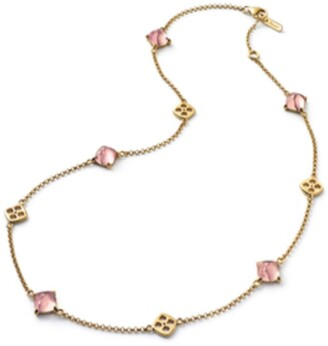 Baccarat Vermeil and Crystal Medicis Chain Necklace