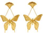 Oscar de la Renta Swallowtail Butterfly Drop Earrings