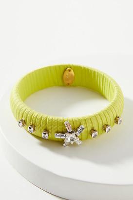 Giacinta Bangle Bracelet By Rada in Green Size ALL