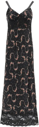 Paco Rabanne Long Floral Dress With Lace