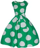 Looking Glam Ladies 1950's Retro Vintage Pin Up Swing Party Tea Dress Size 10