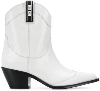 MSGM pointed-toe cowboy boots