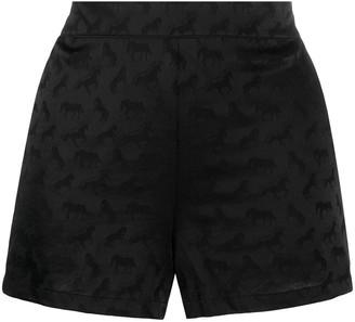 Stella McCartney Horse-Pattern Pajama Shorts