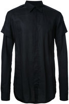 Julius layered sleeve shirt - men - Cotton - 2